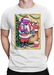تي شيرت بأكمام قصيرة مطبوع عليه صورة دب سانتا للمواليد من Liquid Blue Grateful