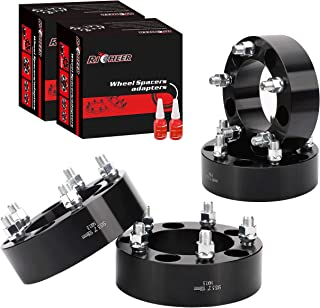 Richeer Wheel Spacers for Ram 1500, 4Pcs 2 inch 5x5.5 to 5x5.5 Forged Wheel Spacers, Center Bore 108mm with Studs M14X1.5 for 2012-2018 Dodge Ram 1500