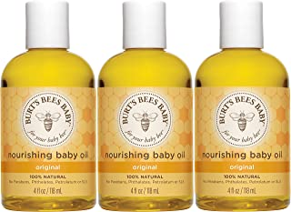 Burt's Bees Baby Nourishing Baby Oil, 100% Natural Baby Skin Care – 4 Ounce..