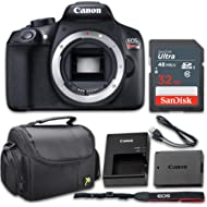 Canon EOS Rebel T6 18MP DSLR Camera Body Only Kit with 32GB Memory and Gadget Bag (Renewed)