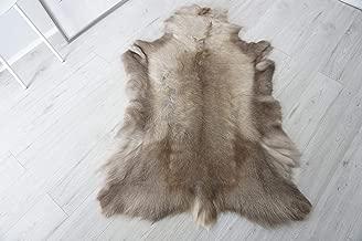 MILABERT Genuine Super Soft - Extra Large Scandinavian Reindeer Skin - Rug | Hide | Pelt - RE 386