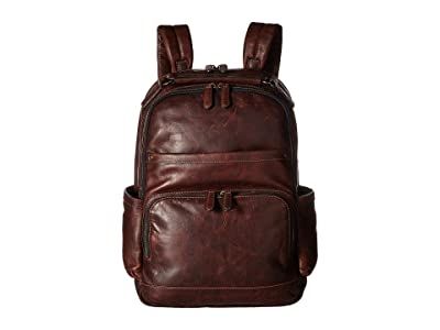 Frye Logan Backpack (Dark Brown Antique Pull Up) Backpack Bags