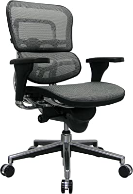 Eurotech Seating Ergohuman Mid Back Mesh Swivel Chair, Grey