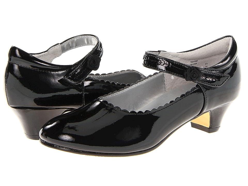 Jumping Jacks Kids Dianna (Little Kid/Big Kid) (Black Shiny) Girls Shoes