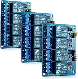 kwmobile 3X Modulo relè 5V a 4 canali per Arduino - Relay Module Scheda Arduino con optoisolatore accoppiatore - Set da 3 ...