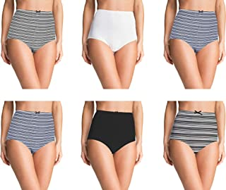 Pepperika Maternity Hygiene Panties/High Waisted Maternity Panties Mom/Pregnancy Panties/C Panty for C-Section Recovery (Pack of 6)