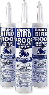 Bird-X Bird-Proof Gel Bird Repellent, 3 Tubes Pack