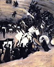 Rehearsal of the Pasdeloup Orchestra at the Cirque d'Hiver by John Singer Sargent - 16