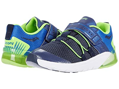 Saucony Kids S-Flash Glow 2.0 JR (Toddler) (Navy/Green) Boys Shoes