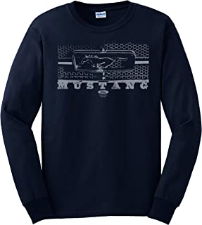 Ford Mustang Longsleeve T-Shirt Grill Design