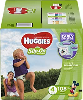 HUGGIES Little Movers Slip On Diaper Pants, Size 4