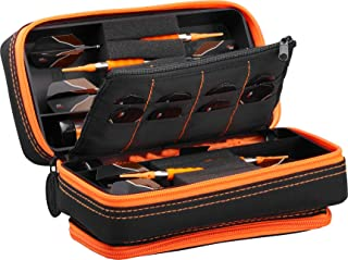 Casemaster Plazma Pro Black and Trimmed Dart Case with Phone Pocket, for Both Steel tip and Soft tip Dart Sets