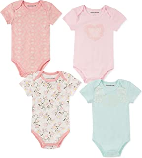 62 cm s Size: 3 Months//60 cm Multicolour Pack of 5 Variante 1 00 Petit Bateau Baby Girls Bagel Bodysuit