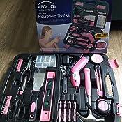 Apollo Tools DT5010P Chasis de acero para organizaci/ón m/áxima con rodamientos de bolas y acabado en polvo color rosa 2 ranuras