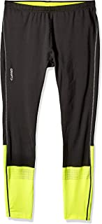 Craft Mens Brilliant 2.0 Running and Training High Visibility Reflective Thermal Tights