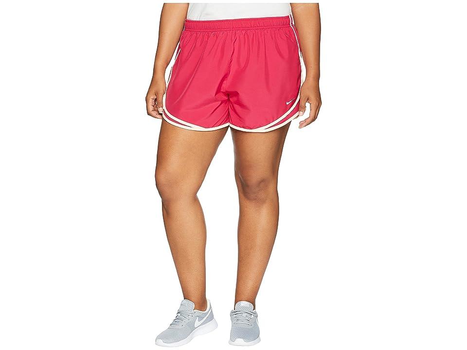 Nike Dry Tempo 3 Running Short (Size 1X-3X) (Wild Cherry/Wild Cherry/Wolf Grey) Women