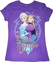Disney Frozen Elsa the Snow Queen & Princess Anna Power Youth Girls Tee Shirt