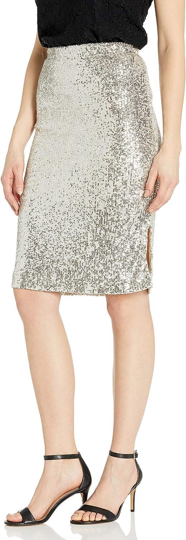 BB DAKOTA Women's Spark This Joy Stretch Sequin Pencil Skirt