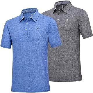 Rdruko Men's Polo Golf Shirts Quick Dry Moisture Wicking Running Training Casual T-Shirts 2 Pack