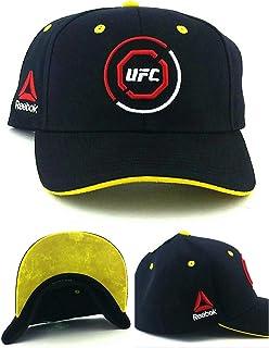 277d11fcd5edb UFC Reebok RBK MMA Black Red Yellow Octagon Fighters Flex Fit Fitted Hat Cap  S