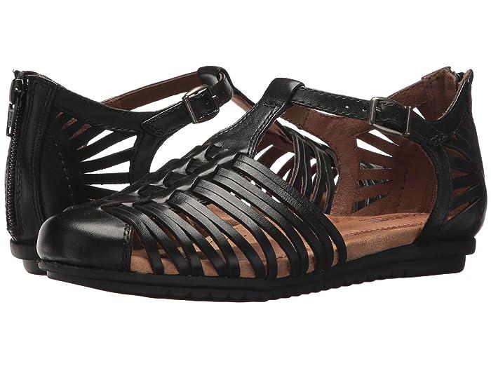 Vintage Sandals | Wedges, Espadrilles – 30s, 40s, 50s, 60s, 70s Cobb Hill Cobb Hill Inglewood Hurache Black Leather Womens Shoes $84.99 AT vintagedancer.com