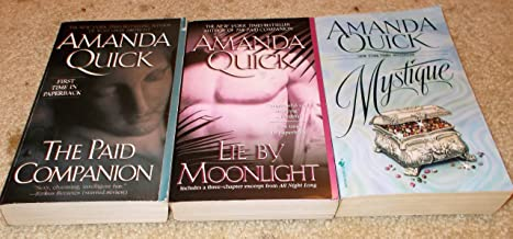 Amanda Quick: 3 Book Set: Softcover: Mystique: The Paid Companion: Lie By Moonlight: Very Good
