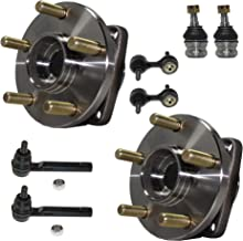 Detroit Axle - 8PC Front Wheel Bearing & Hub Assembly w/Lower Ball Joints, Sway Bars and Outer Tie Rods for 2009-13 Subaru Forester - [2008-14 Impreza WRX Sedan] - 2005-09 Legacy - [2005-09 Outback]