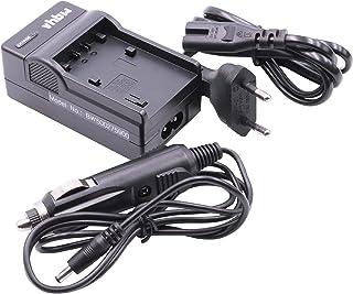 Set de Accesorios Cable estación de Carga Cargador para la Red eléctrica y el Coche Apto para batería DCR-SX21 DCR-SX21E HDR-PJ30 etc.