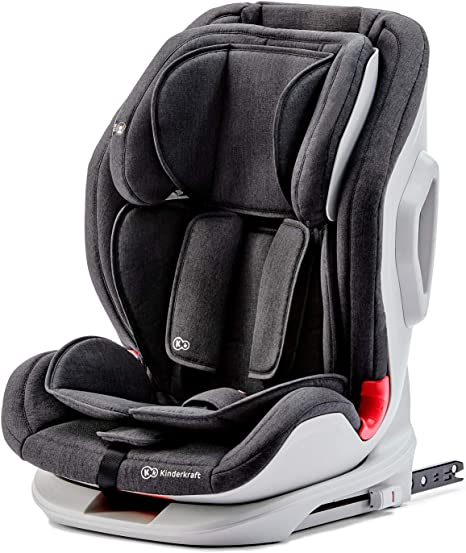 Kinderkraft Car Seat ONETO3, Booster, Child Seat Base, with Isofix, Top Tether, Reclining, for Toddlers, Infant, Group 1/2/3, 9-36 Kg, Up to 12 Years, Safety Certificate ECE R44/04, Black: image
