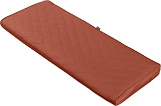 Classic Accessories Montlake FadeSafe Quilted Bench Cushion, Spice, 54