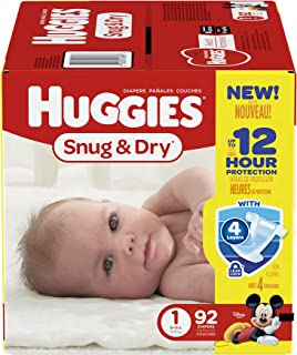 Huggies Snug and Dry Diapers - Size 1-92 ct