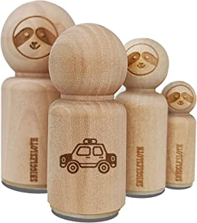 Police Cop Car Vehicle Automobile Rubber Stamp for Stamping Crafting Planners - 1/2 Inch Mini