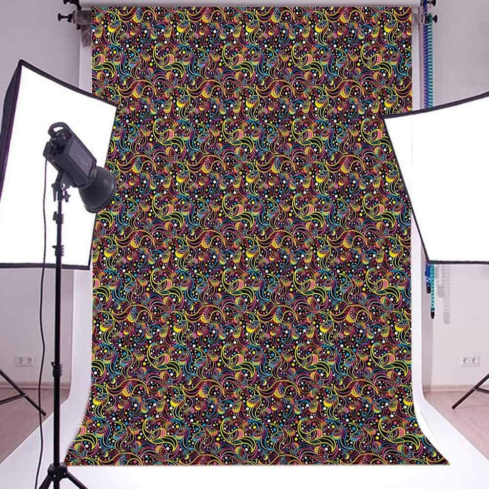 8x12 FT Turtle Vinyl Photography Backdrop,Sea Turtle Chelonia Mydas on Water Surface Caribbean Beach Tropics Background for Party Home Decor Outdoorsy Theme Shoot Props