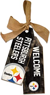 NFL Pittsburgh Steelers Unisex Pittsburgh Steelers Team Tags, Team Color, 12 inch