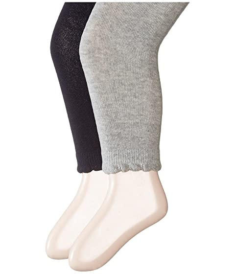 3e6a52685 Jefferies Socks Scalloped Pima Cotton Footless Tights 2-Pair Pack  (Toddler Little Kid Big Kid)