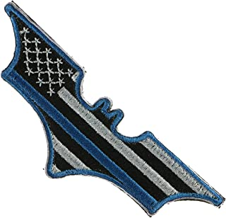 LiZMS Tactical Patch : Batman Super Hero Justice League USA Flag Thin Blue Line - Hook and Loop Fasteners
