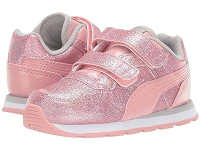 Puma Kids Vista Glitz Velcro (Toddler) (Bridal Rose/Gray Violet/PUMA White) Girls Shoes
