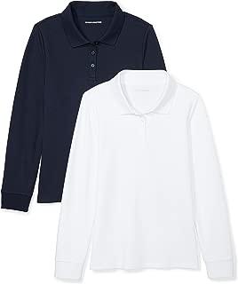 Girls' 2-Pack Long-Sleeve Interlock Polo Shirt