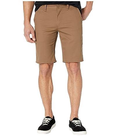 Brixton Toil II Hemmed Shorts (Dark Khaki) Men