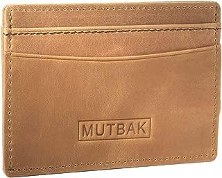 MUTBAK Bunker - Front Pocket Magnetic Money Clip Wallet with RFID/NFC Blocking