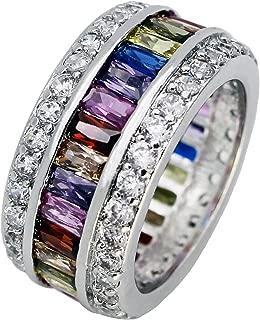 Promise Wedding Party Multi Gemstone Ring Ruby Morganite Citrine Amethyst White Topaz Pink Topaz Size 6 to12 (7)
