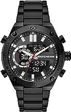 Skechers Men's Agnew Quartz Watch with Alloy Steel Strap, Black, 24 (Model: SR5158)