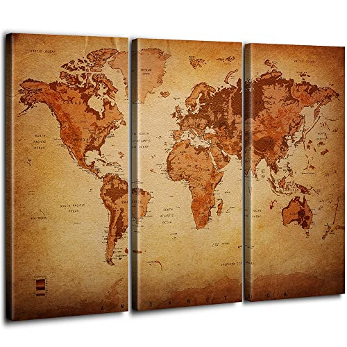 Great Home Decor 11x14 Unframed Art Print 1922 World Map Art Print