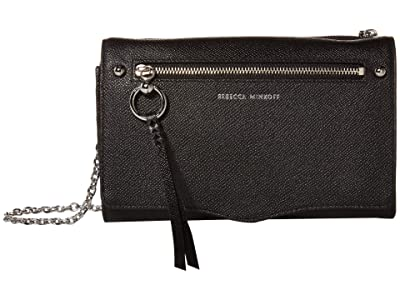 Rebecca Minkoff Gabby Wallet On A Chain (Black) Handbags