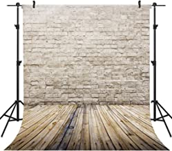 OUYIDA 10x10FT Seamless Brick Wall Wood Floor Pictorial Cloth Customized Photography Backdrop Background Studio Prop GA08A