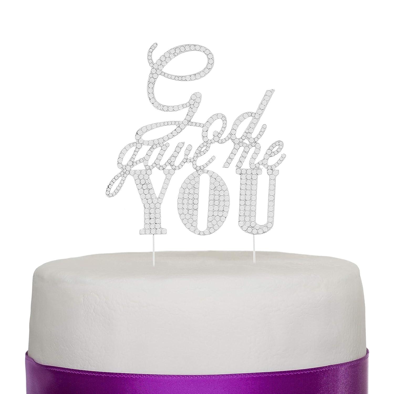 Ella Celebration God Gave Me Rhinestone Cake Topper You Max Max 68% OFF 60% OFF Silver