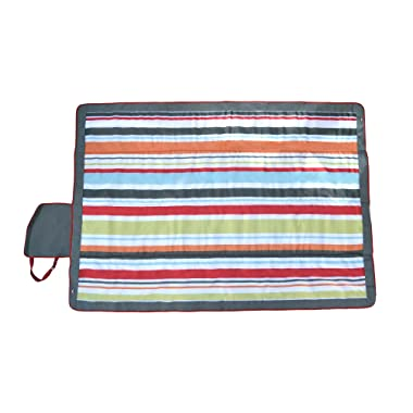 JJ Cole Outdoor Blanket, Gray/Red, 7' x 5'
