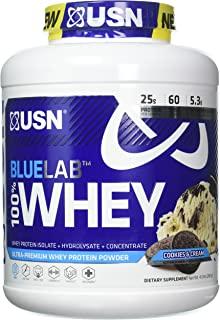 USN Supplements Bluelab 100 Percent Whey, Cookies & Cream, 4.5 Pound
