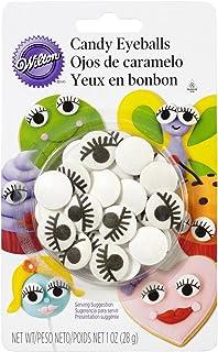 Wilton Edible Candy Eyeballs W/ Eyelashes; Cake Cookie Cupcake Icing Decorations