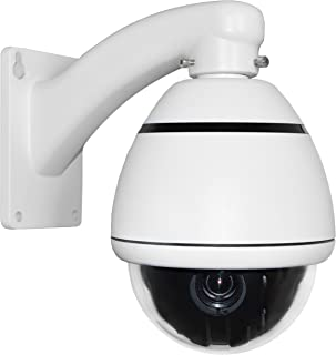 SPT Security Systems 15-CD510 10x Indoor/Outdoor 1000TVL D/N Mini PTZ with Wall Mount Bracket, DC12V (White)